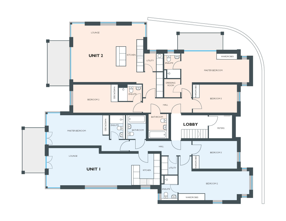 Floorplan for Unit 1
