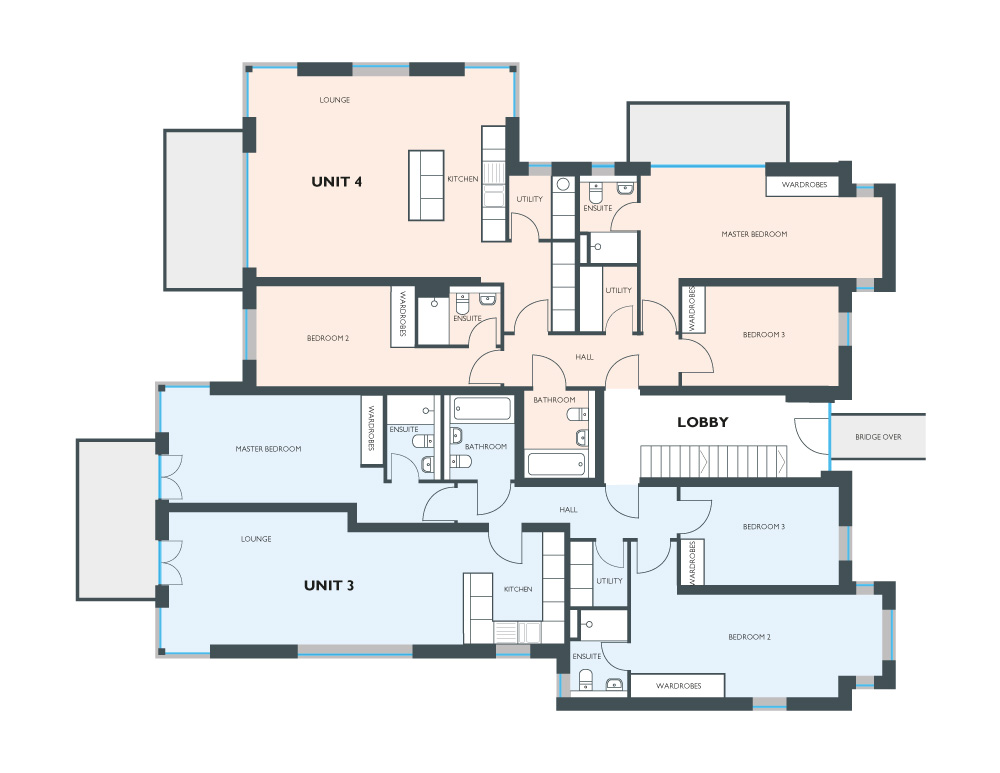 Floorplan for Unit 3