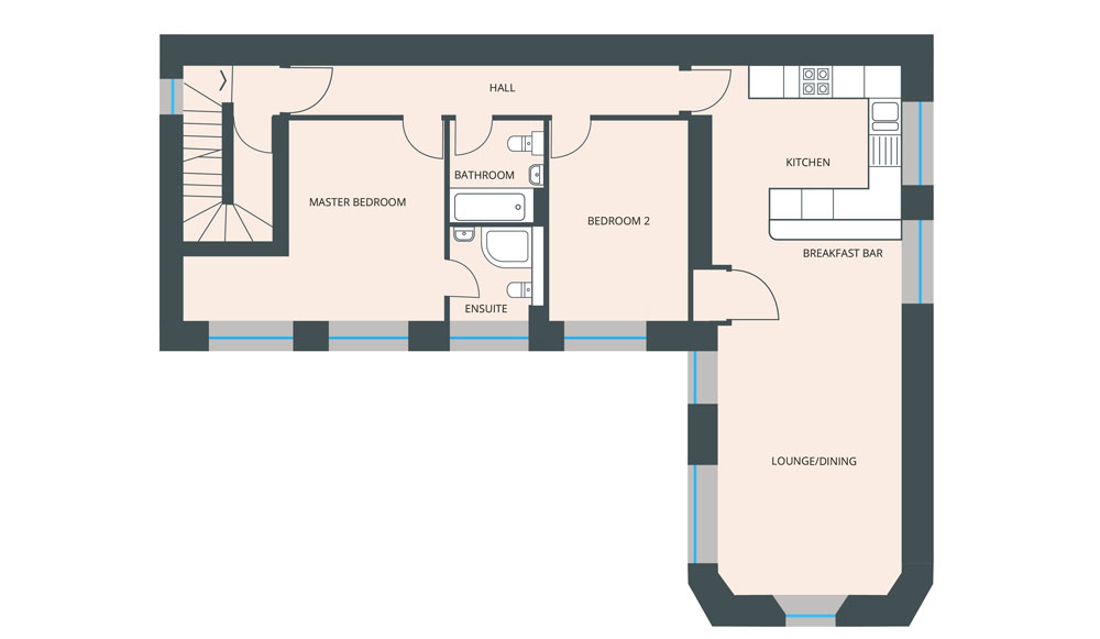 Floorplan for First Floor Flat