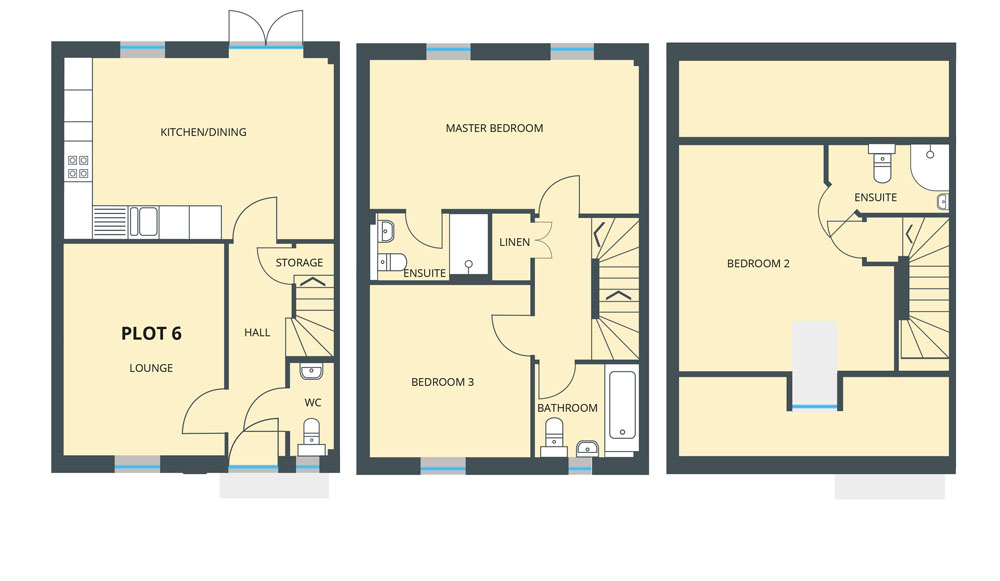 Floorplan for Plot 6