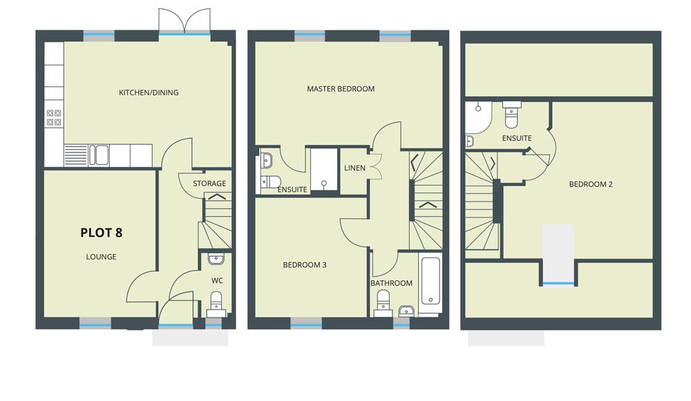 Floorplan for Plot 8