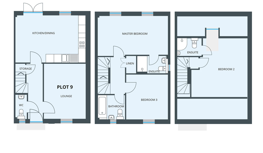 Floorplan for Plot 9