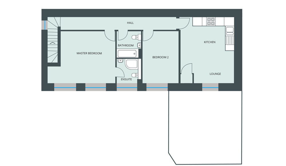 Floorplan for Second Floor Flat