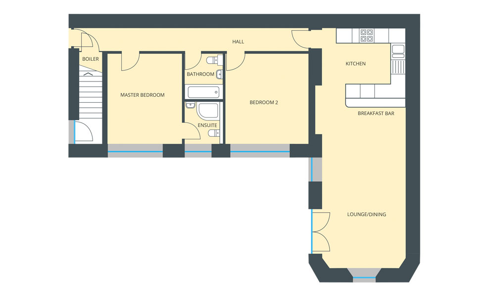 Floorplan for Ground Floor Flat