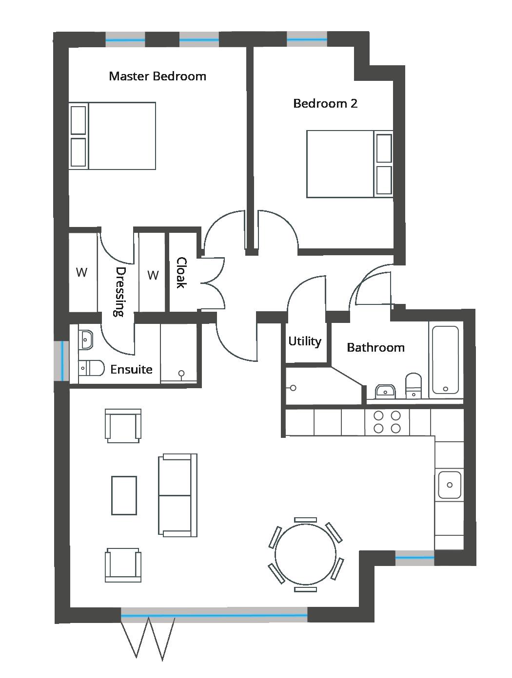 Floorplan for Apartment 5