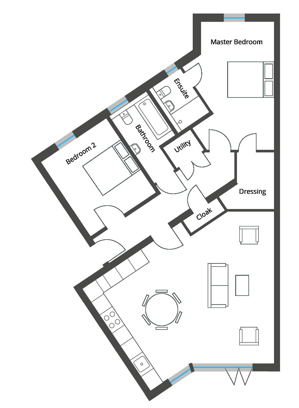 Floorplan for Apartment 6