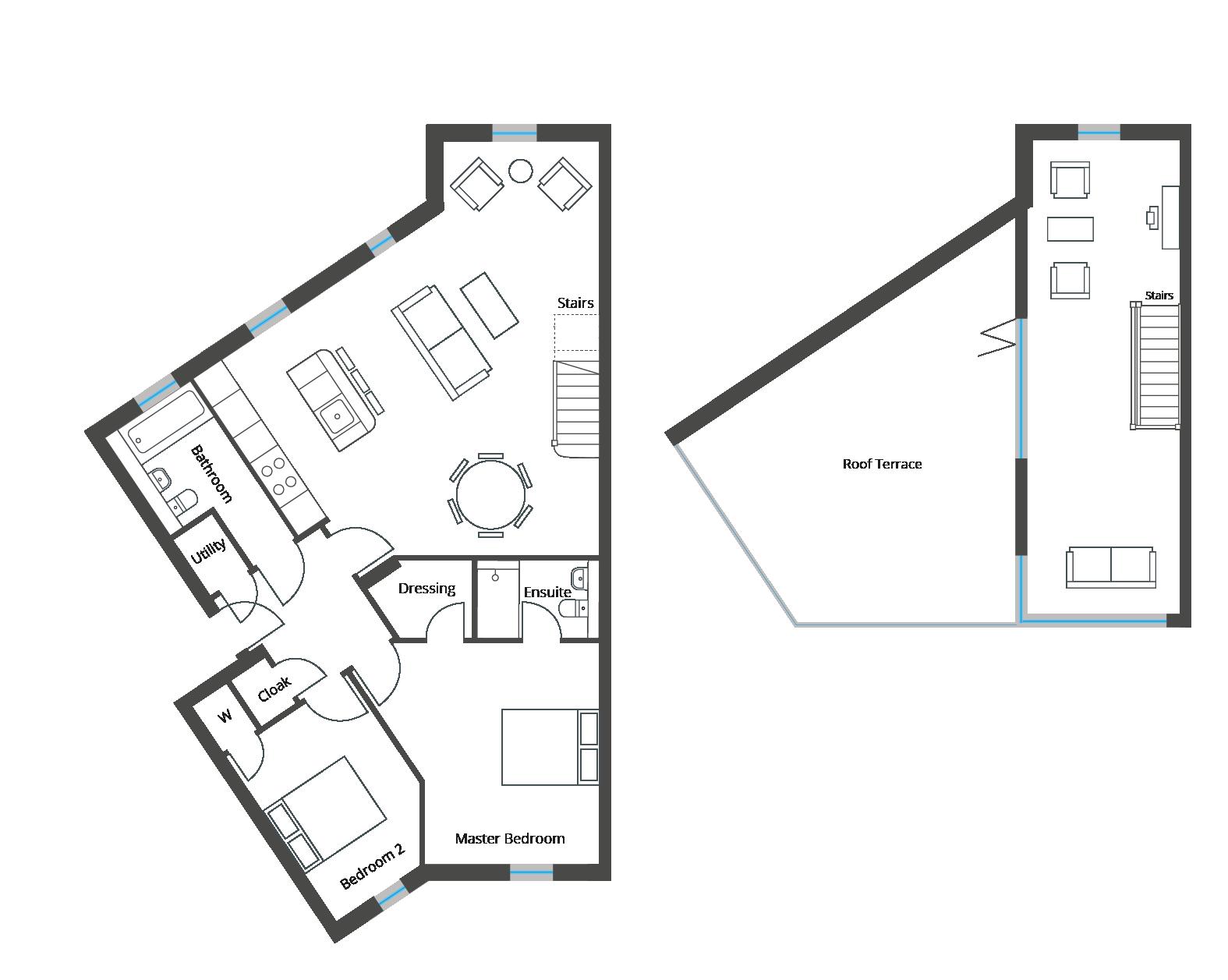Floorplan for Apartment 8