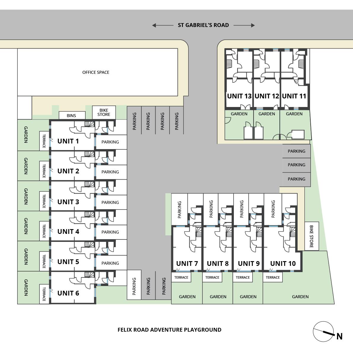 Floorplan for Siteplan