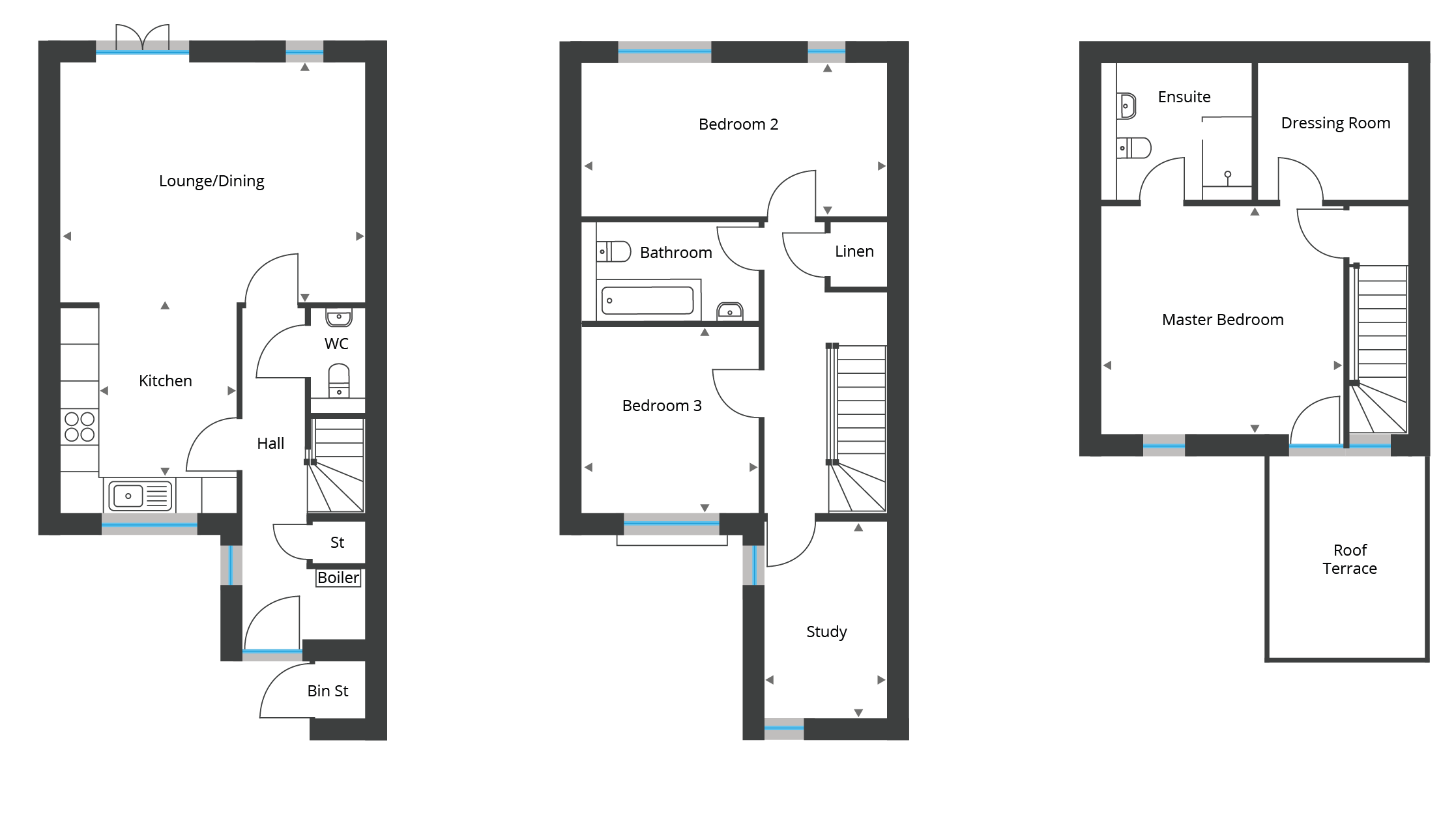 Floorplan for Town Houses 1-6