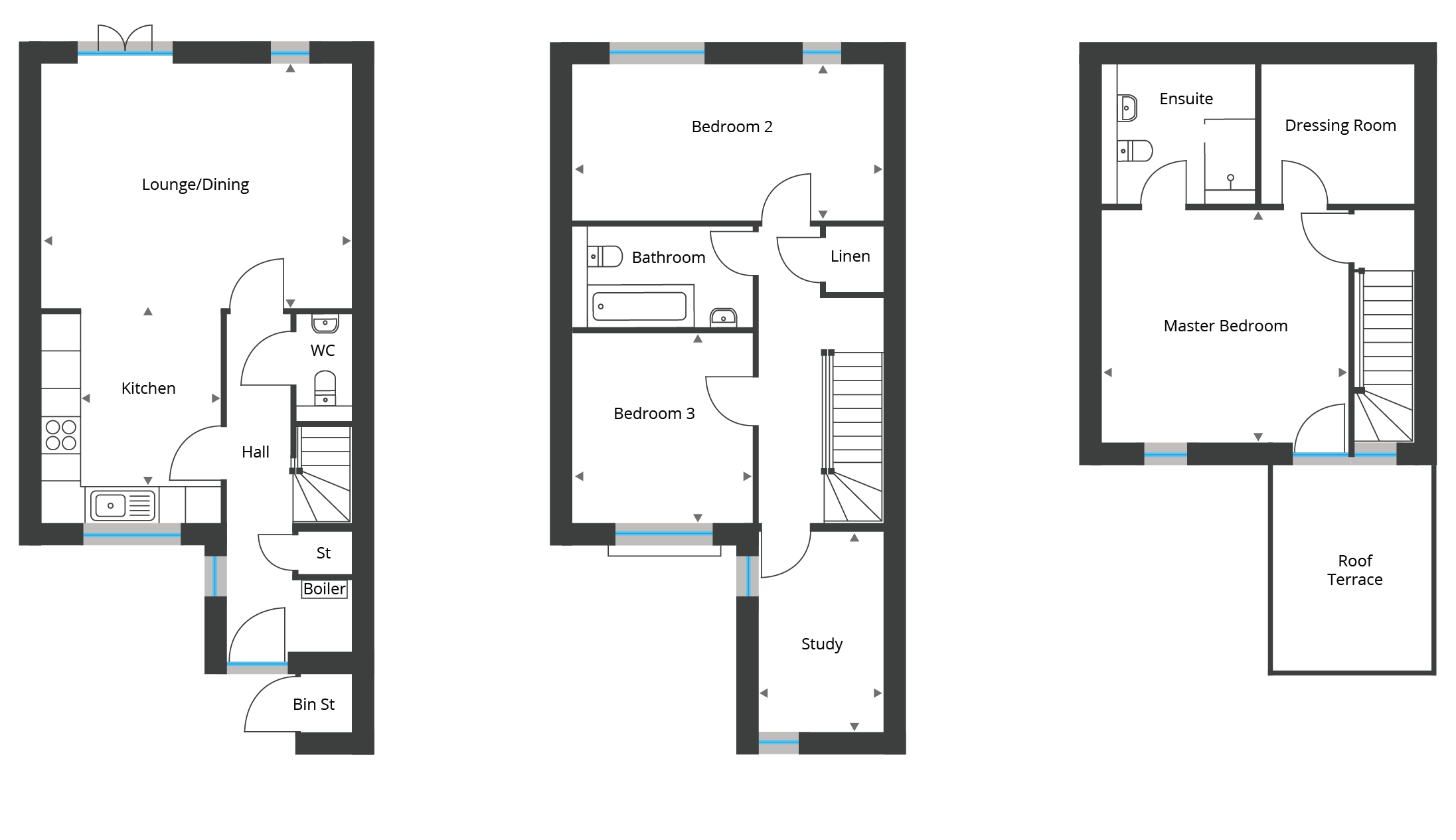 Floorplan for Town Houses 7-9