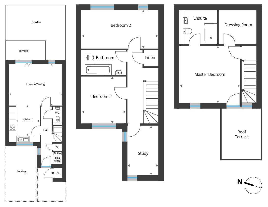 Floorplan for Town Houses 7-9