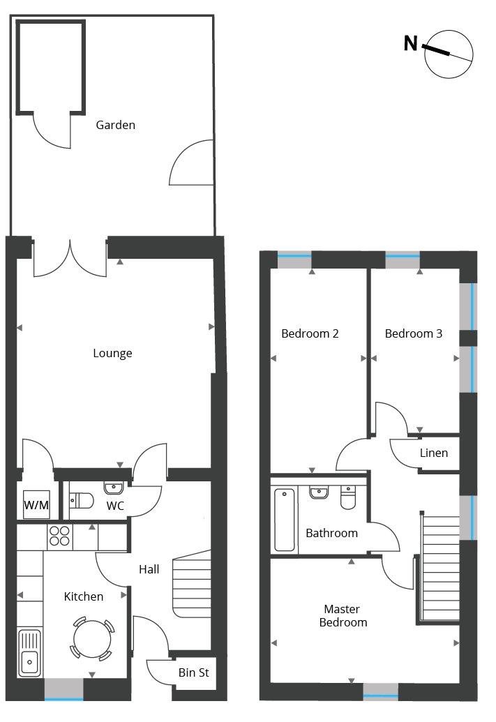 Floorplan for Unit 13