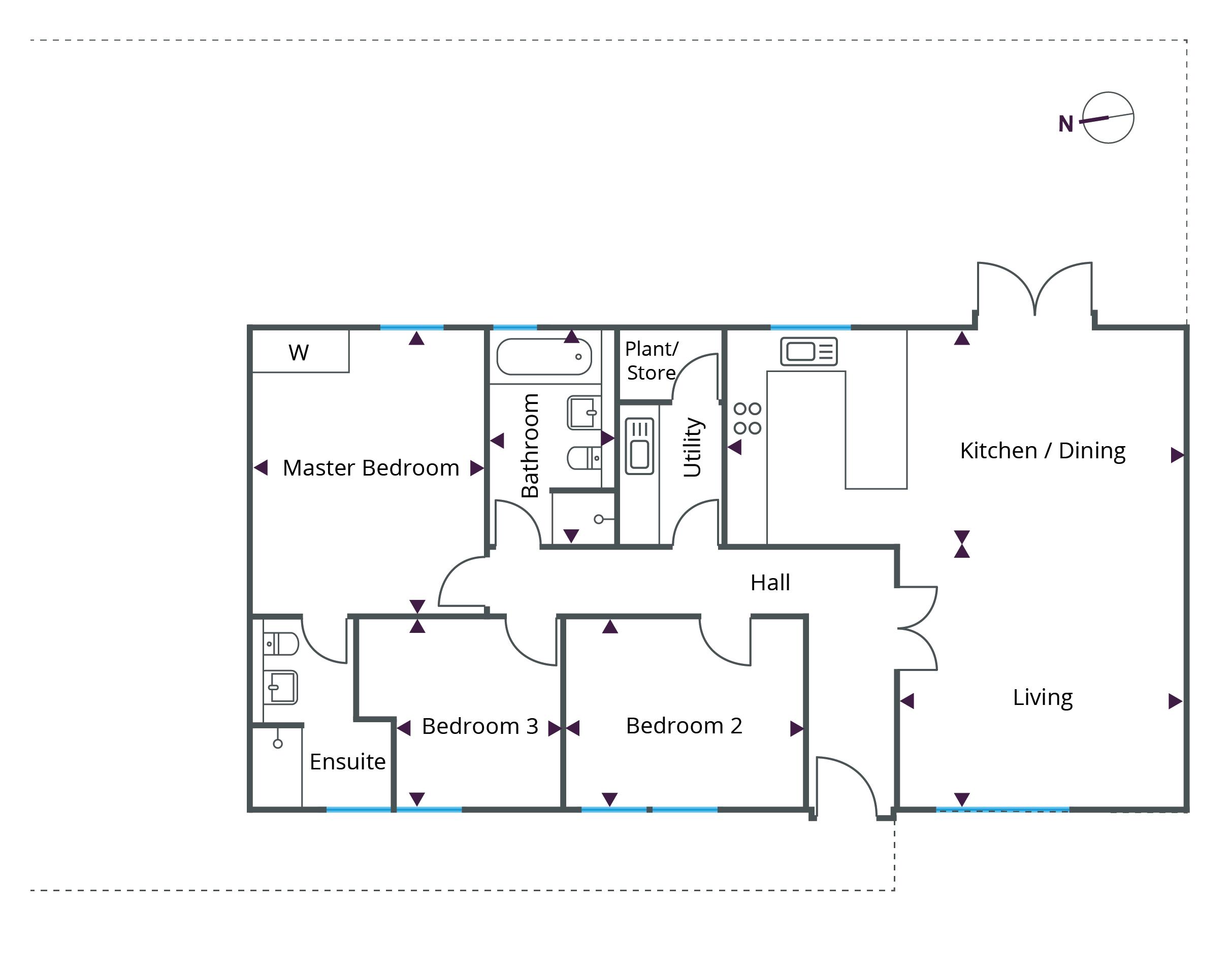 Floorplan for Bungalow 2