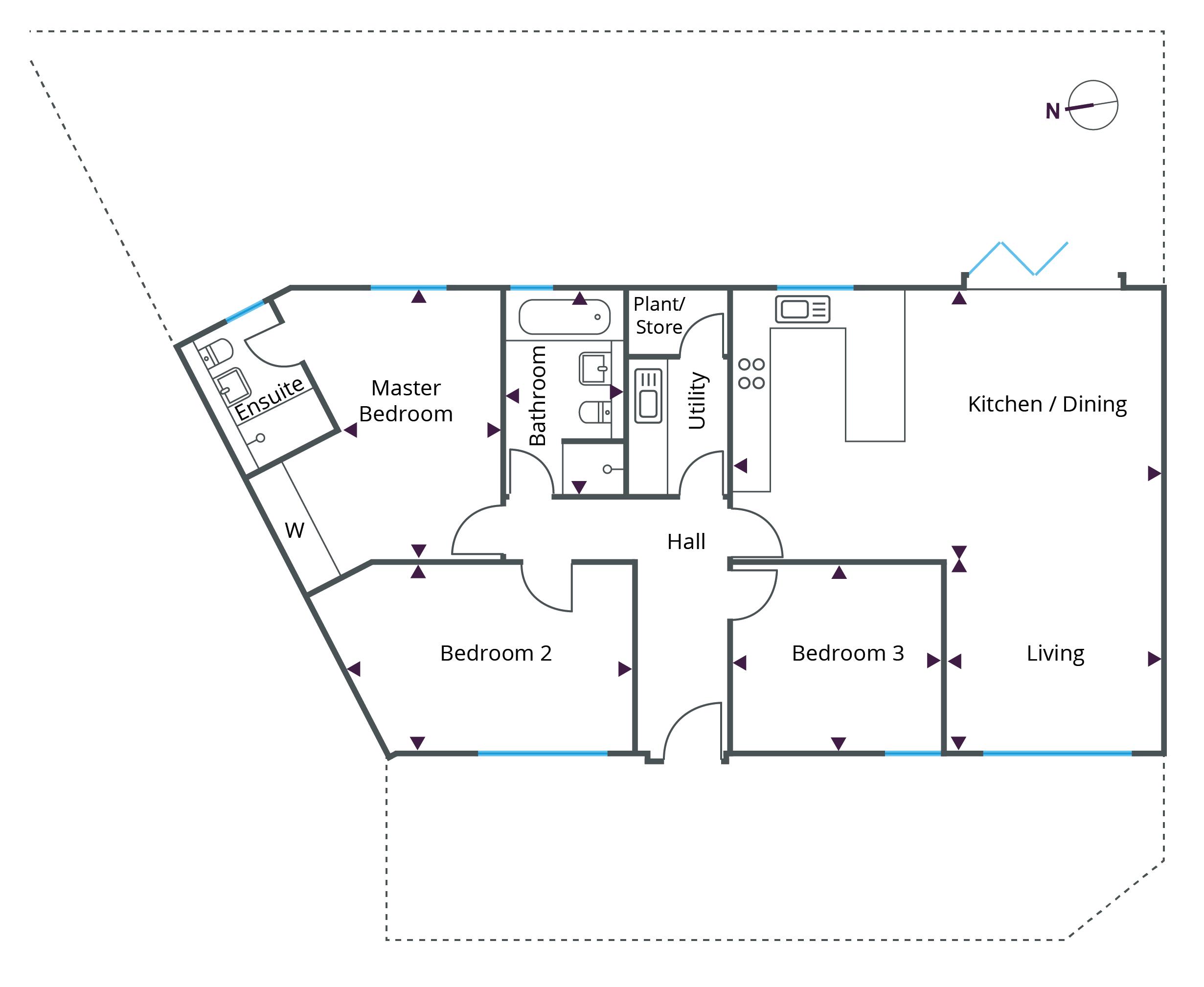Floorplan for Bungalow 3