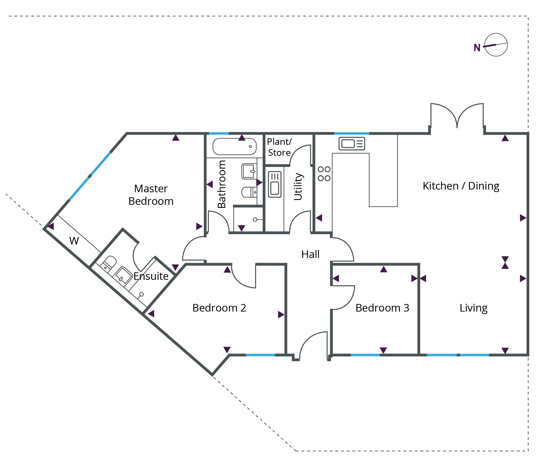 Floorplan for Bungalow 4