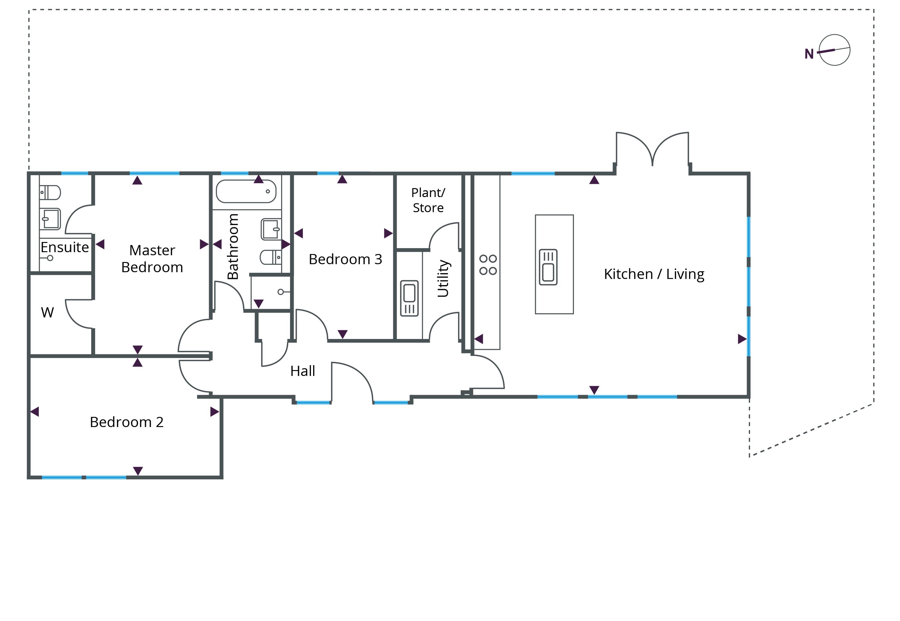 Floorplan for Bungalow 5