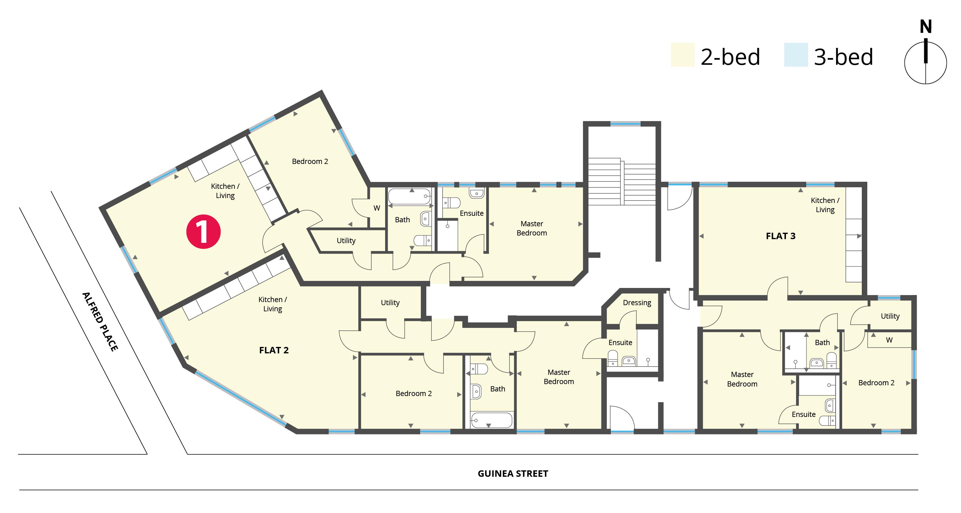 Floorplan for Flat 1
