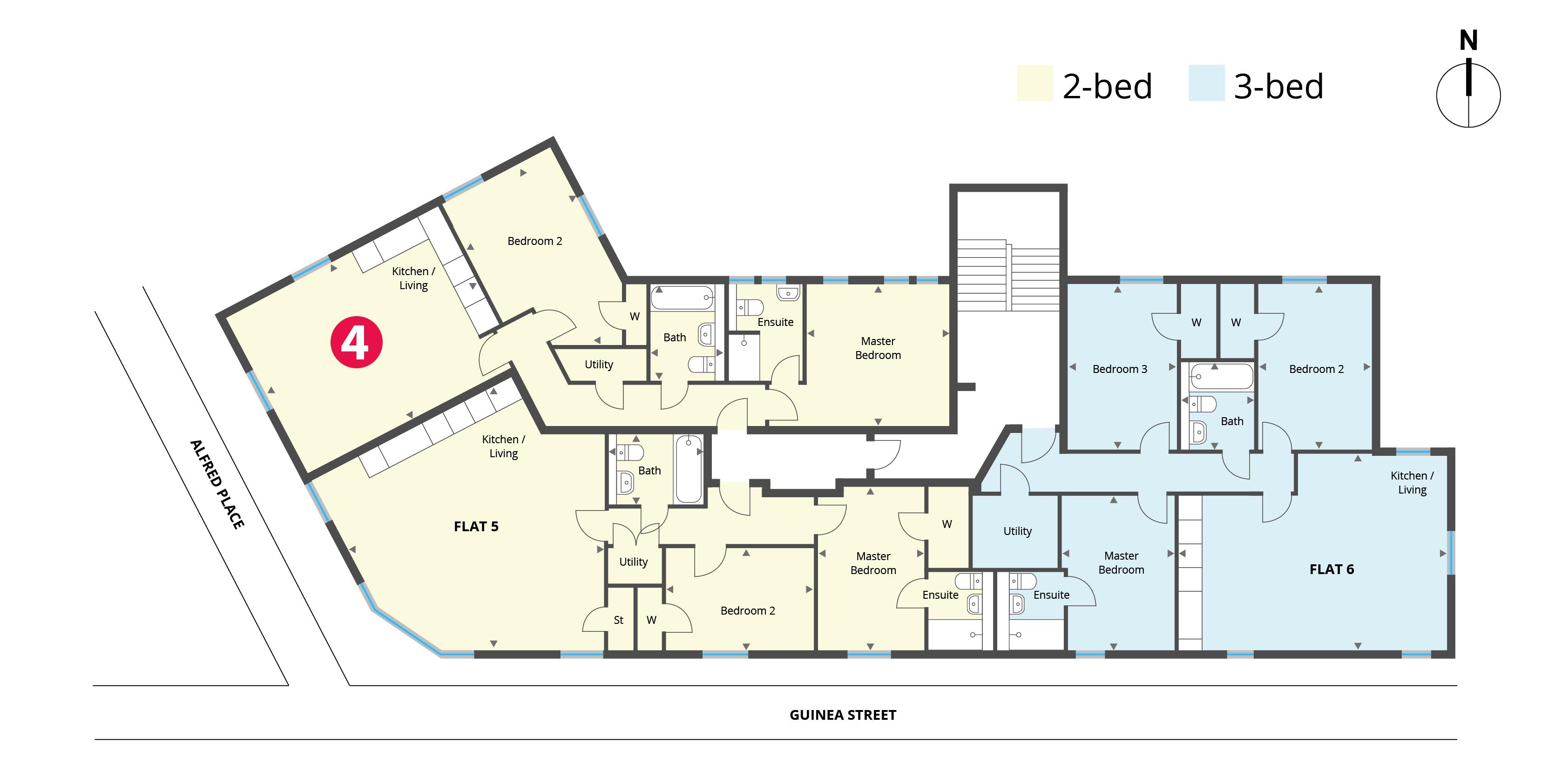 Floorplan for Flat 4