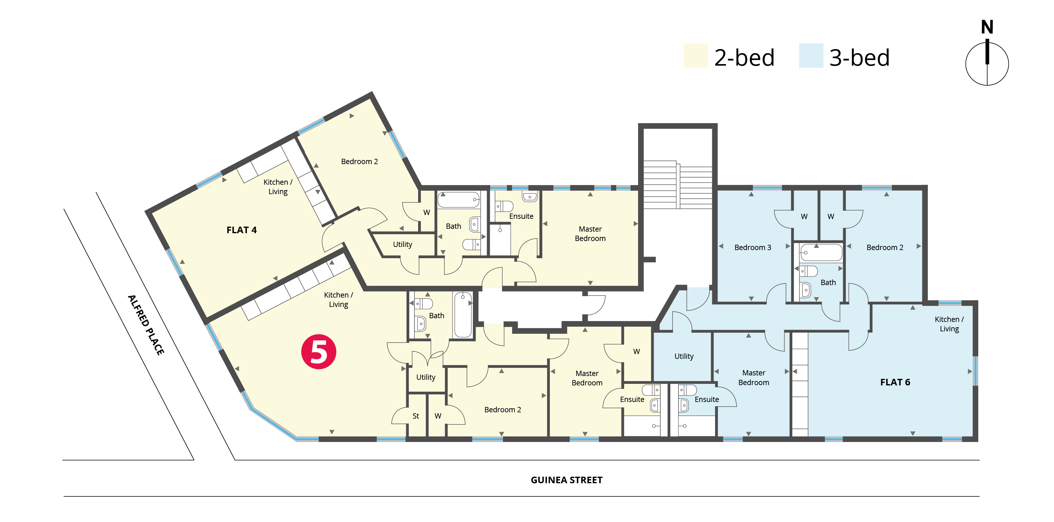 Floorplan for Flat 5