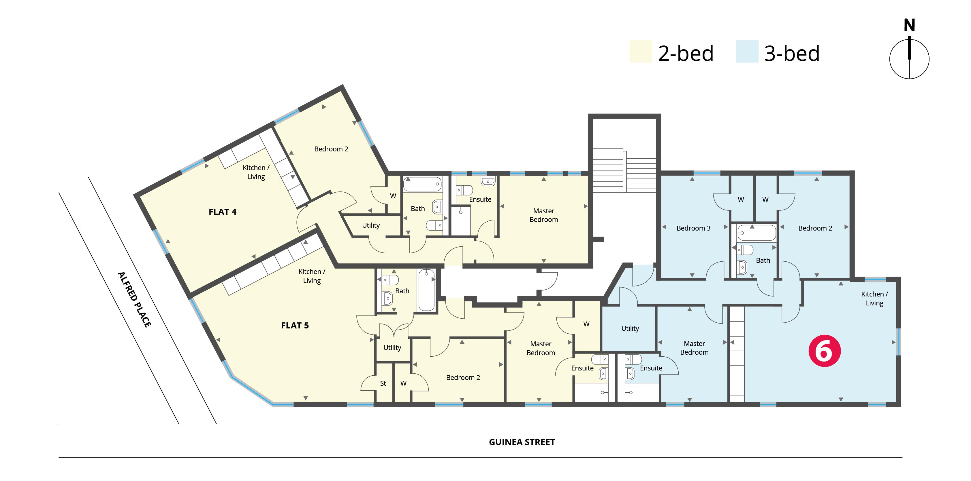 Floorplan for Flat 6